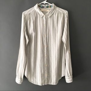 Anthropologie Isabella Sinclair Lace Back Shirt